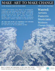 VPGB Arts Event Poster